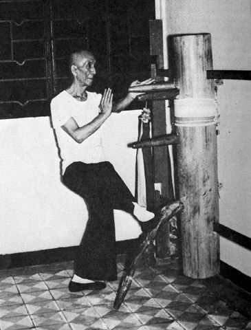 Yip Man Kicking Dummy