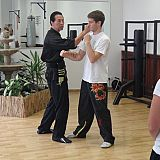 sam applies wing chun punch