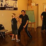 young gril trains with master kwok