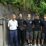 3 generations of wing chun students pay respects at grave