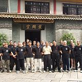 students and masters at ip man museum