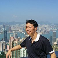 Samuel Kwok at the top of Victoria peak in Hong Kong