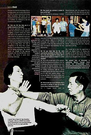 martial arts illustrated wing chun