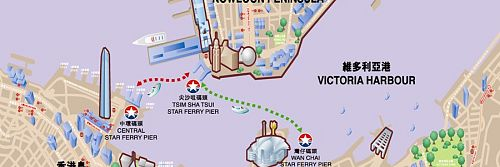 Star Ferry Map - Hong Kong 2011